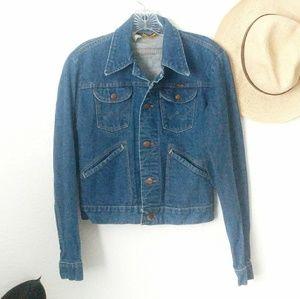 70s Vintage Wrangler Denim Jean Western Jacket